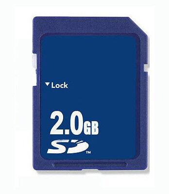 Speicher karte 2G SD 2GB Standard Secure Digital Memory Card Blau Klasse2 NEU Blau Digital Memory