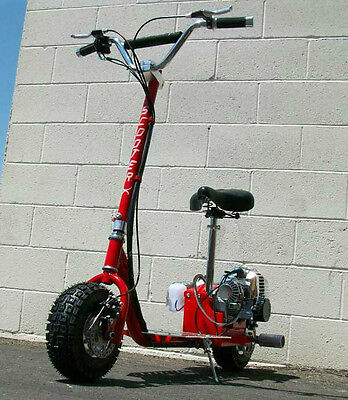 2014 scooterx red racing go fast motor scooter 49cc gas for Stand on scooters with motor