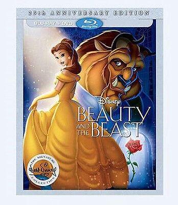Beauty and the Beast (Blu-ray/DVD, 2016, 25th Anniversary Edition )