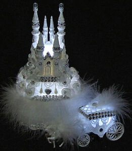 lighted cinderella castle wedding cake topper lighted cinderella castle wedding cake topper coach 3 ebay 16859