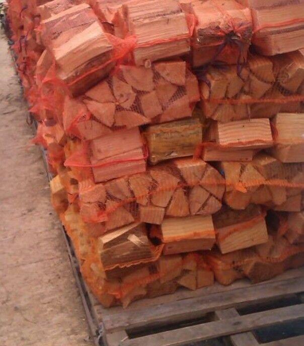 Logs seasoned barn stored