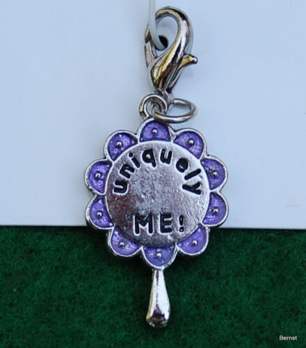 VINTAGE GIRL SCOUT STUDIO 2B CHARM ON CARD - UNIQUELY ME! INSIDE AND OUT