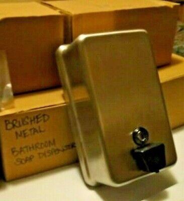 Lot Of 6 Commercial Restaurant Metal Soap Dispensers Antibacterial Refillable