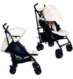 Mini easywalker stroller in pepper jack white