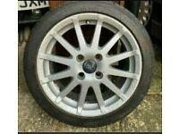 "16"" FORD FIESTA ZETEC S MK 5 6 Titanium SPOKE 4 STUD ALLOY WHEEL With Tyre 7mm"
