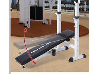 Fold up work out bench w/ 50KG Barbell/Dumbbell set
