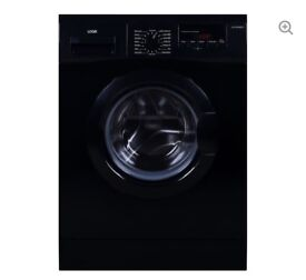 NEW GRADED !! LOGIK L814WMB17 8KG 1400 SPIN WASHING MACHINE - BLACK WITH 12 MONTHS WARRANTY RRP £209
