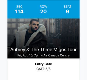 DRAKE AND MIGOS CONCERT TICKETS ON AUGUST 10TH 2018