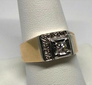 Diamond mens ring with appraisal