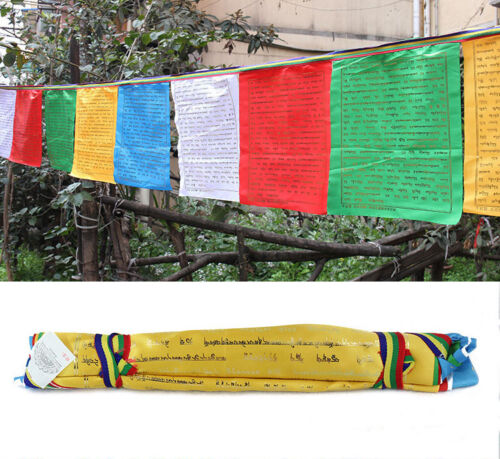 600cm BLESSED QUALITY 20-FLAGS WIND HORSE PRAYER FLAG: FIVE DHARANI MANTRA