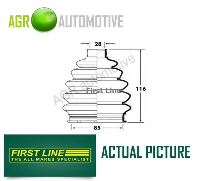 FIRST LINE WHEEL SIDE DRIVESHAFT CV JOINT BOOT KIT OE QUALITY REPLACE FCB6083