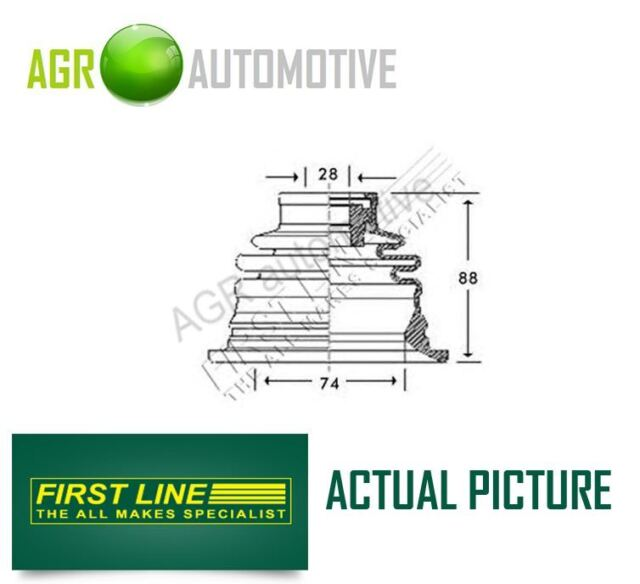 FIRST LINE LEFT DRIVESHAFT CV JOINT BOOT KIT OE QUALITY REPLACE FCB2780