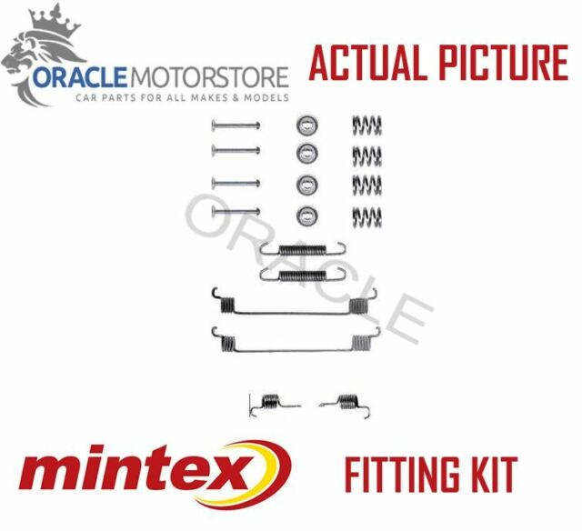 NEW MINTEX REAR BRAKE SHOES SET FITTING KIT PIN SPRINGS GENUINE QUALITY MBA672