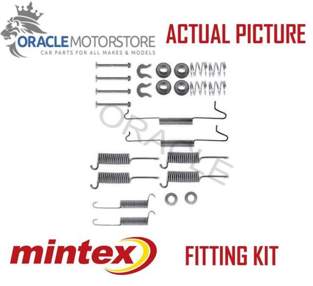 NEW MINTEX REAR BRAKE SHOES SET FITTING KIT PIN SPRINGS GENUINE QUALITY MBA571