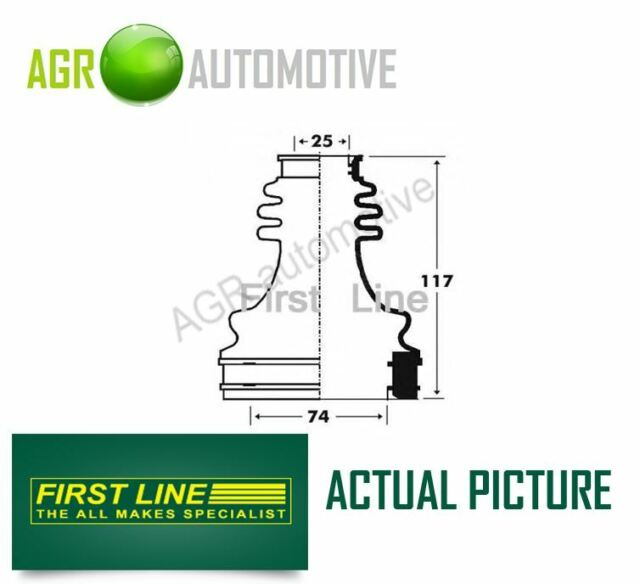 FIRST LINE TRANSMISSION END DRIVESHAFT CV JOINT BOOT KIT OE QUALITY FCB2916