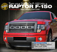 F150 FORD F-150 GRILLE GRILL FRONT CHROME CARBON BLACK CHROME