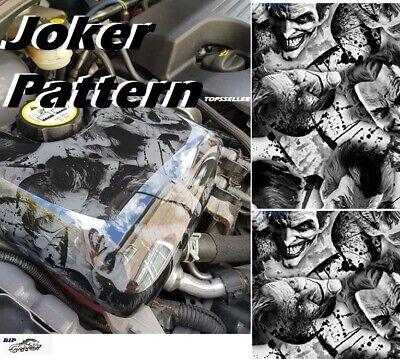 19x79 Water Transfer Print Film Hydrographic White Black Joker Camo Dip Hydro