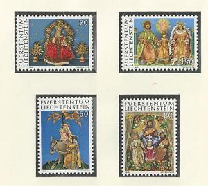 LIECHTENSTEIN-610-613-MNH-CHRISTMAS-1976