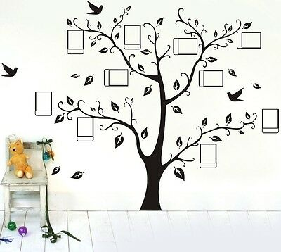 Home Decoration - Large Family Photo Frame Tree Wall Sticker Removable Kids Home Decor Room Decals