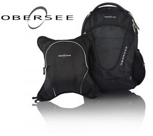 NEW OBERSEE OSLO DIAPER BAG BACKPACK WITH DETACHABLE COOLER, BLA