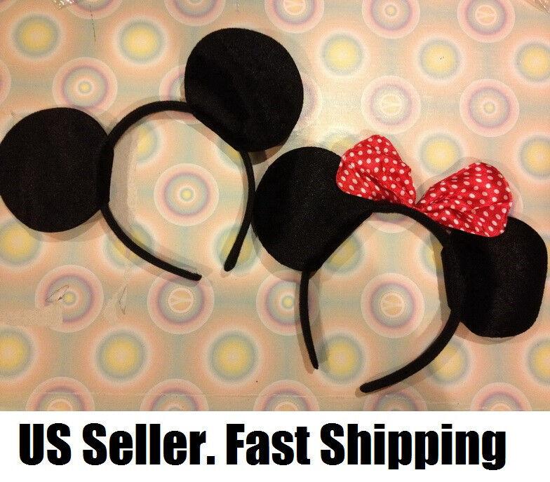 5 pc LOT Mickey Minnie Mouse Ears birthday headband party favor US SELLER bow NY