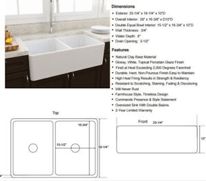 SAALE SALE SALE very reasonable price for fire clay apron sink