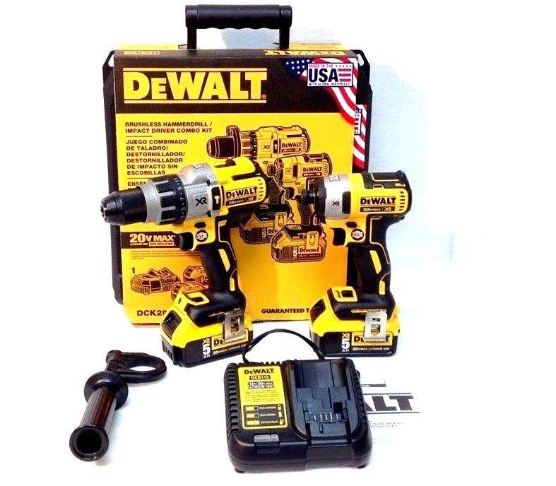 Dewalt 20V DCK299P2  Brushless Combo Kit  2-Tool 5.0Ah DCD99