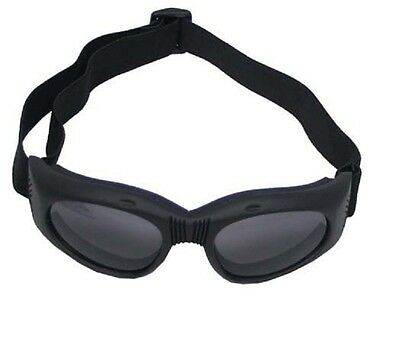 Bikerbrille Highway schwarz mit Gelenk Brille für Biker