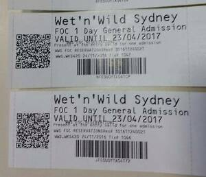 Two Wet & wild one day entry pass Quakers Hill Blacktown Area Preview