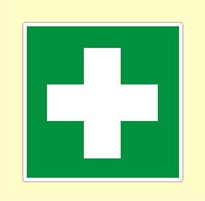 Rotes Kreuz Aufkleber Medizinschrank Verbandskasten Verbandsmaterial in 3 Größen - Rote Medizin