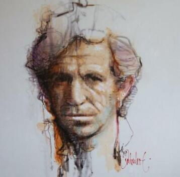 Peter Donkersloot - Keith Richards (unique painting)