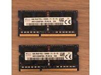 Hynix 8GB 2rx8 PC3L-12800-S DDR3 Laptop RAM Memory 16GB (2x8GB)