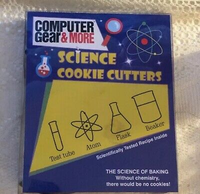 Science Cookie Cutters Chemistry Beaker Lab Cookies Set 4