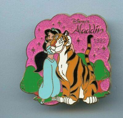 JDS Disney Japan History Art Aladdin Princess Jasmine & Pet Tiger Rajah LE Pin