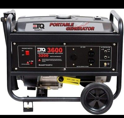 Etq 3600w Portable Generator Gasoline Powered