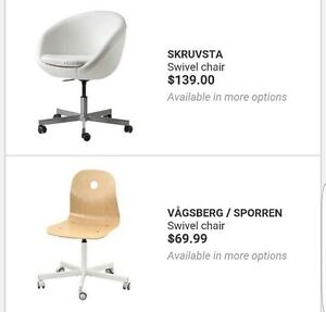 TWO IKEA SWIVEL CHAIR   Bought less than a year for $139.99 plus