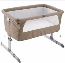 Chicco next to me cot. Good condition. Mattress included.