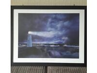 Large Steve Bloom Lighthouse Framed Print