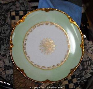 Haviland dishes gold trims hand painted