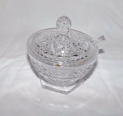 Imperial Cape Cod 3-Piece MUSTARD Dish with Lid and Spoon