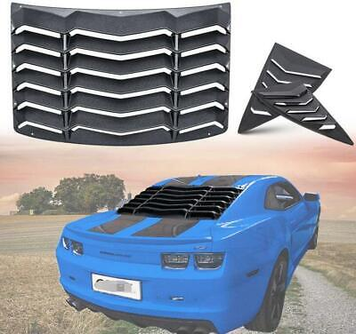 Rear & Side Window Louvers Sun Shade Cover for Chevy Chevrolet Camaro 2010-2015