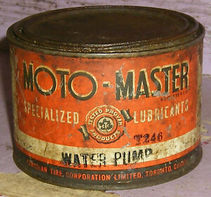 Antique CTC Moto-Master Canadian Tire Tin