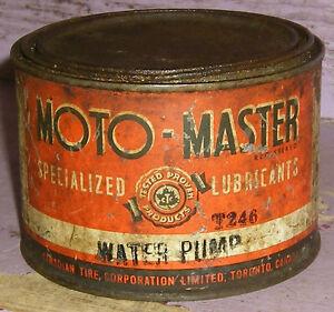 Antique CTC Moto-Master Canadian Tire Tin