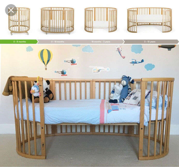stokke sleepi bed from birth to 10 years old w mattress in east finchley london gumtree. Black Bedroom Furniture Sets. Home Design Ideas