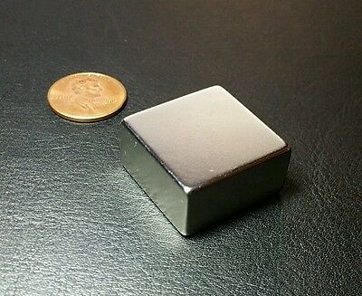1 Neodymium Magnet Block N52 Grade Super Strong Rare Earth 1 X 1 X 12