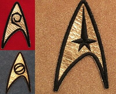Star Trek TOS Original Series Insignia Patches - Set of 3 USS Enterprise Emblem