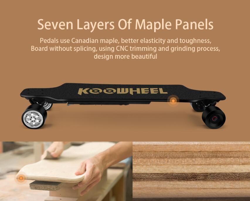 Electric Longboard Skateboard KOOWHEEL 2nd Generation 26km/h