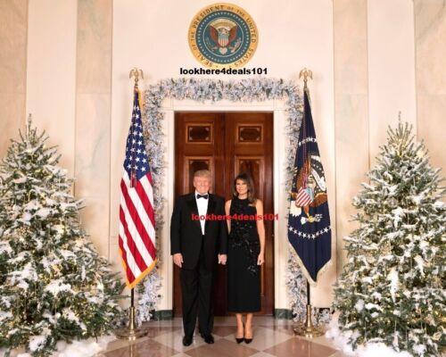 Trump Melania Donald Photo 8.5x11 Christmas 2017 White House Holiday Celebration