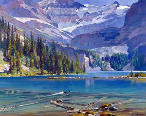 Lake O'Hara  by Carl Rungius   Giclee Canvas Print Repro