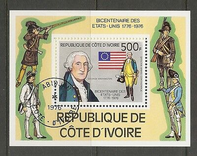 Ivory Coast SC # 426 Bicentennary Of The american Independence . CTO. MNH